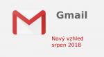 Nový vzhled GMAIL-u (Srpen 2018) a nastavení kompaktnosti (výšky řádku)