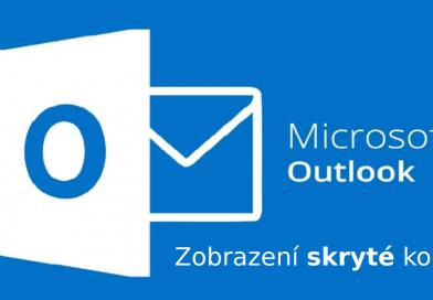 Zobrazení skryté kopie v Outlooku