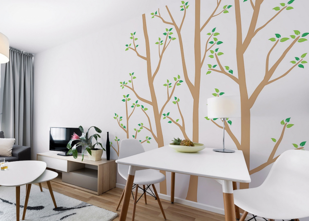 Možnosti použití samolepky na stěnu