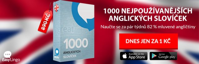 1000 nejpoužívanějších anglických slovíček za 1Kč