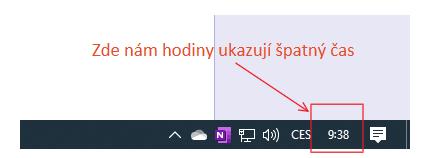 Ukázka hodin ve Windows 10 a jejich nastaveni