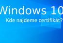 Kde najdeme certifikát ve Windows 10