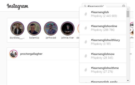 Angličtina na instagramu, sledujeme určité anglické příspěvky