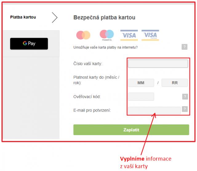 Platba za dobití kreditu kartou - bezpečná platba ... T-Mobile
