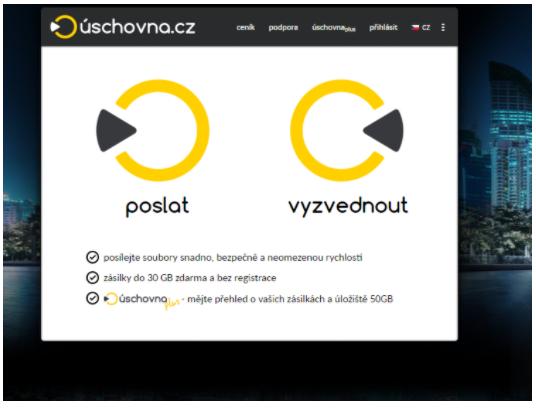 Posíláme velké soubory emailem - uschovna.cz (poslat)