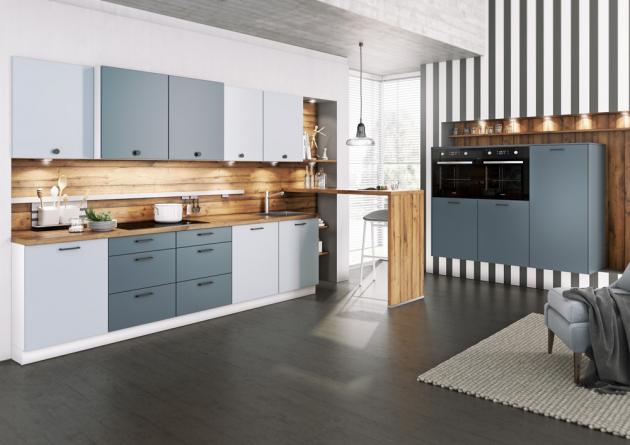 Kuchyně mohou být rovné nebo ve tvaru písmene U,G. Nejčastější tvar u kuchyní je do L.