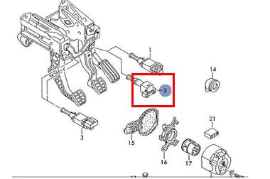 Schéma brzdového spínače u FABIE 1. Kde tento spínač najdeme ...