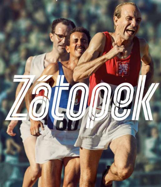 Plakát filmu Zátopek natočený v roce 2021.