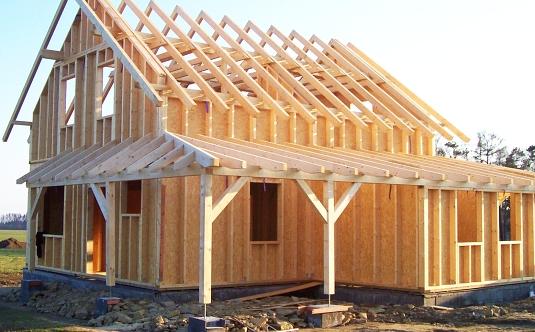 Výstavba domu ze dřeva
