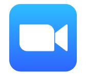 Logo programu Zoom, který slouží pro online schůzky.